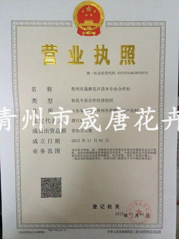 農民合作社營業執照副本